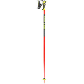 LEKI Worldcup SL TBS Ski Poles, neon red/black/white/yellow